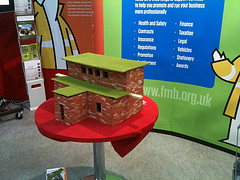 ClayClay mini bricks used on the Federation of Master Builders Stand at Excel's WorldSkills Show Early October 2011. Visitors to the FMB stand helped build the model house