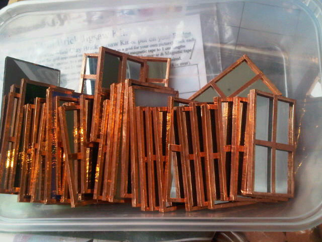 Solder and copper windows 50*29mm Mirror back and doors for larger kits